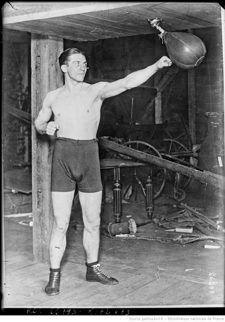 Entraînement de Georges Carpentier à Manhasset